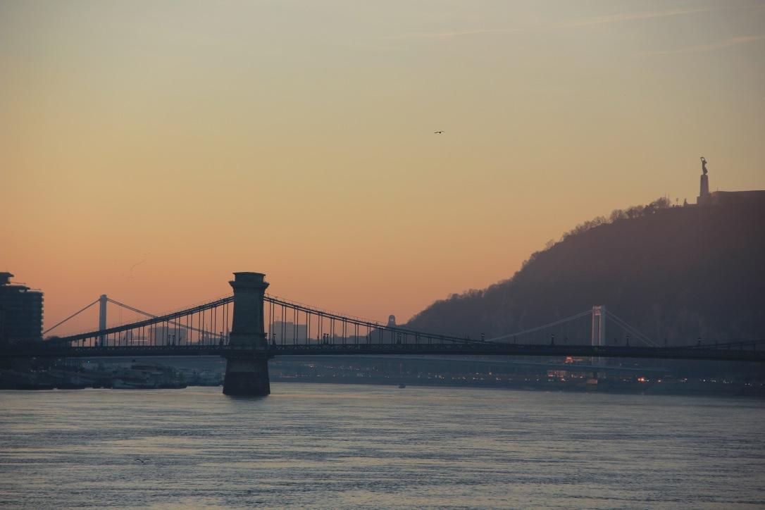 Sunrise over Budapest
