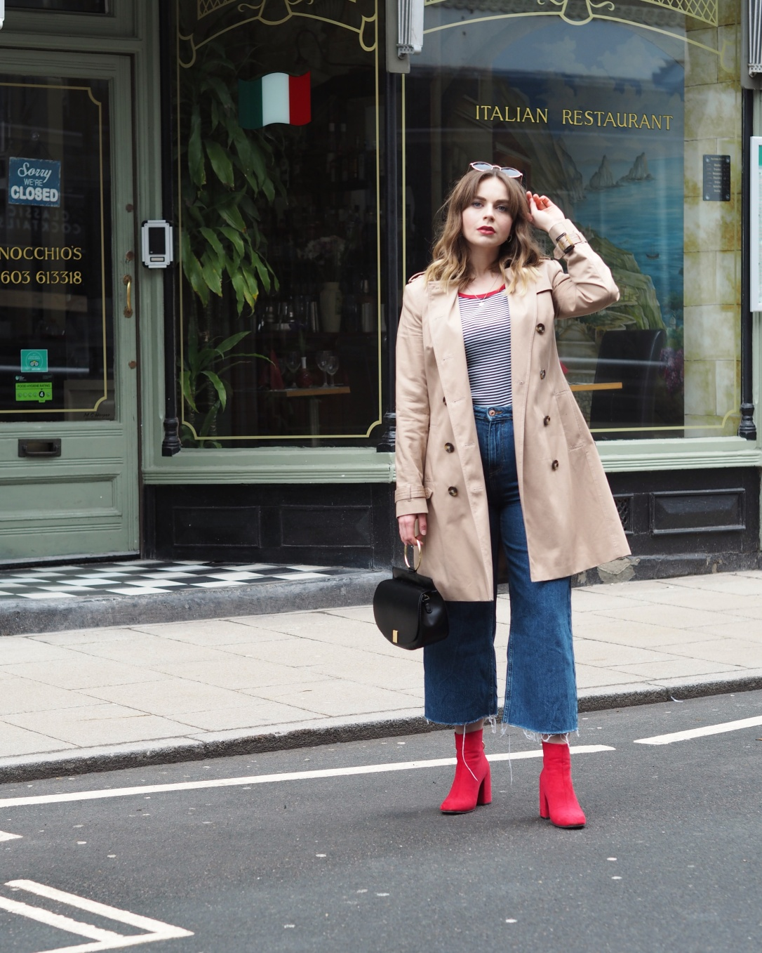Styling a trench coat for spring