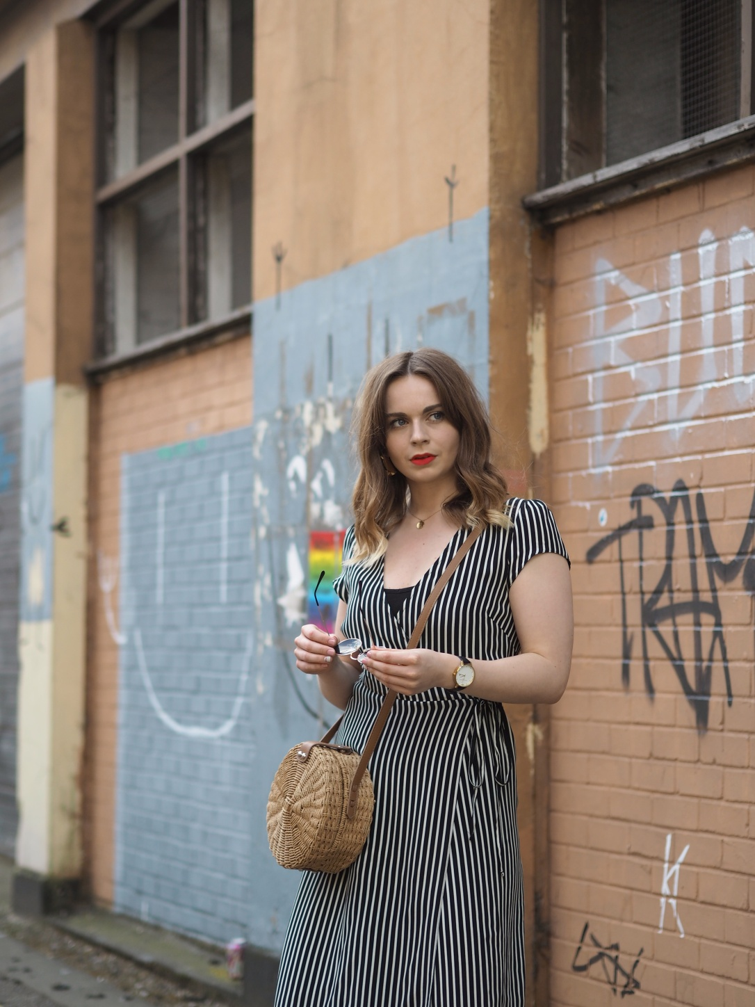 New Look striped midi dress