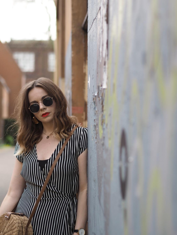 New Look striped midi dress