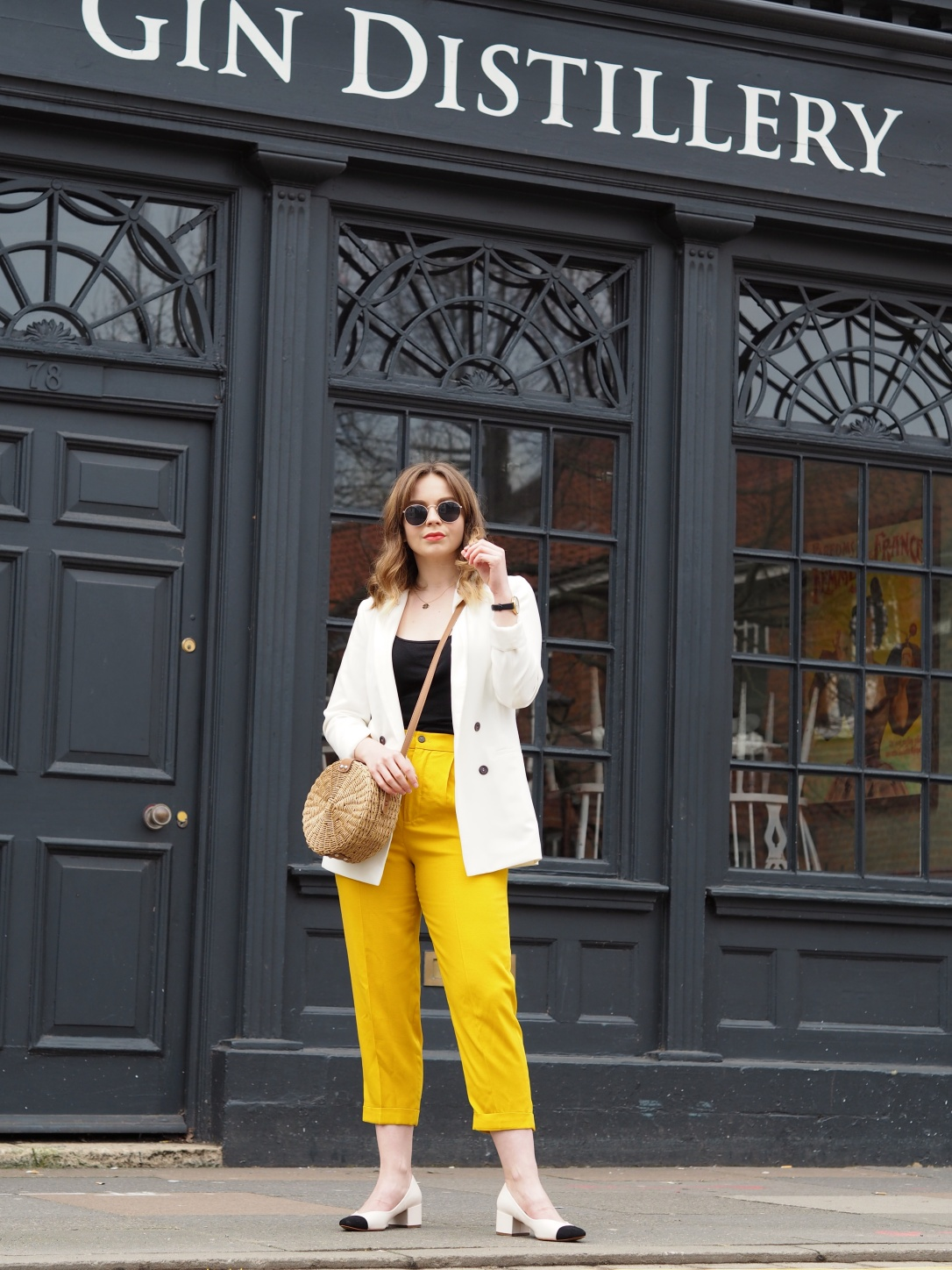 Zara yellow trousers