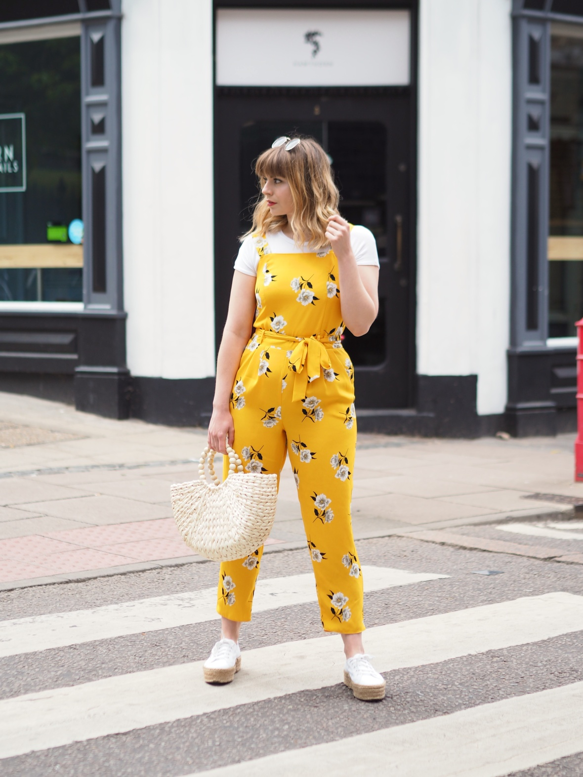 Dorothy Perkins yellow floral jumpsuit