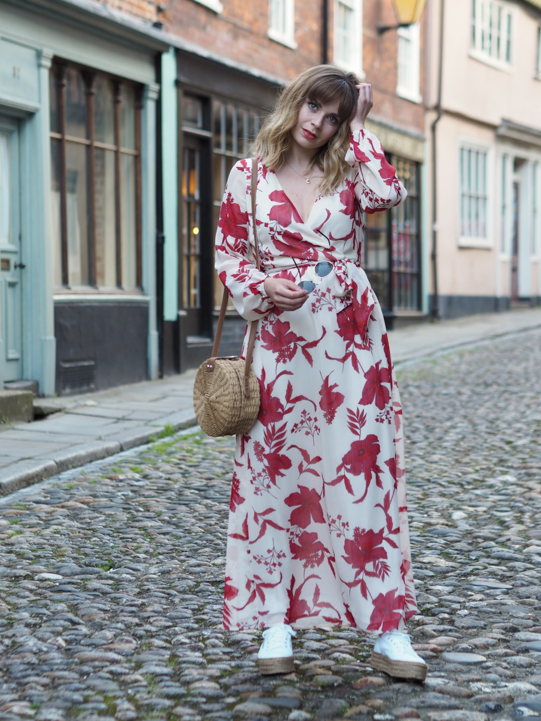 Wearing a maxi dress with trainers