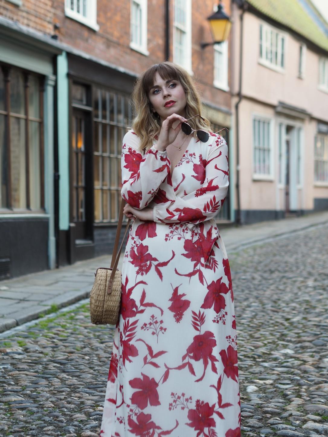 Dorothy Perkins floral wrap maxi dress