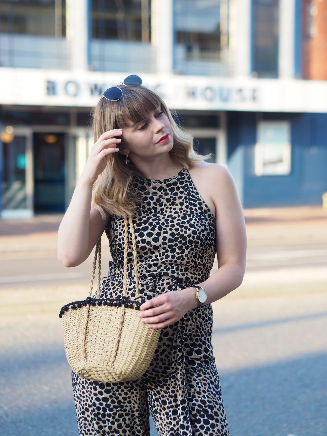 Warehouse leopard print jumpsuit
