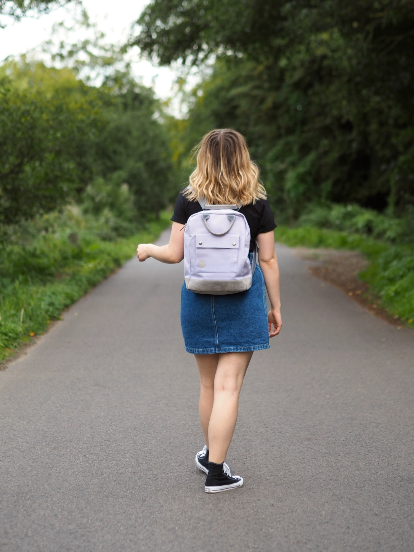 Mi pac lilac rucksack
