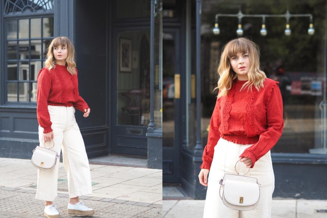 Miss Selfridge victoriana lace blouse