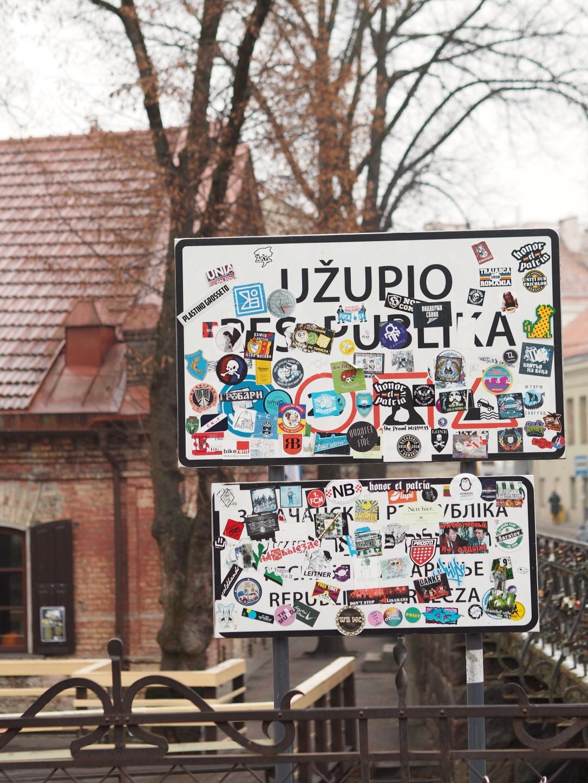 Uzupis sign Vilnius Lithuania
