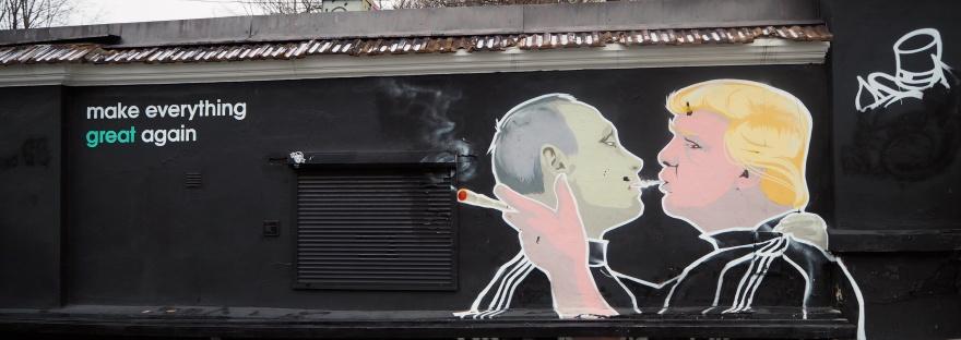 Putin Trump Mural, Vilnius