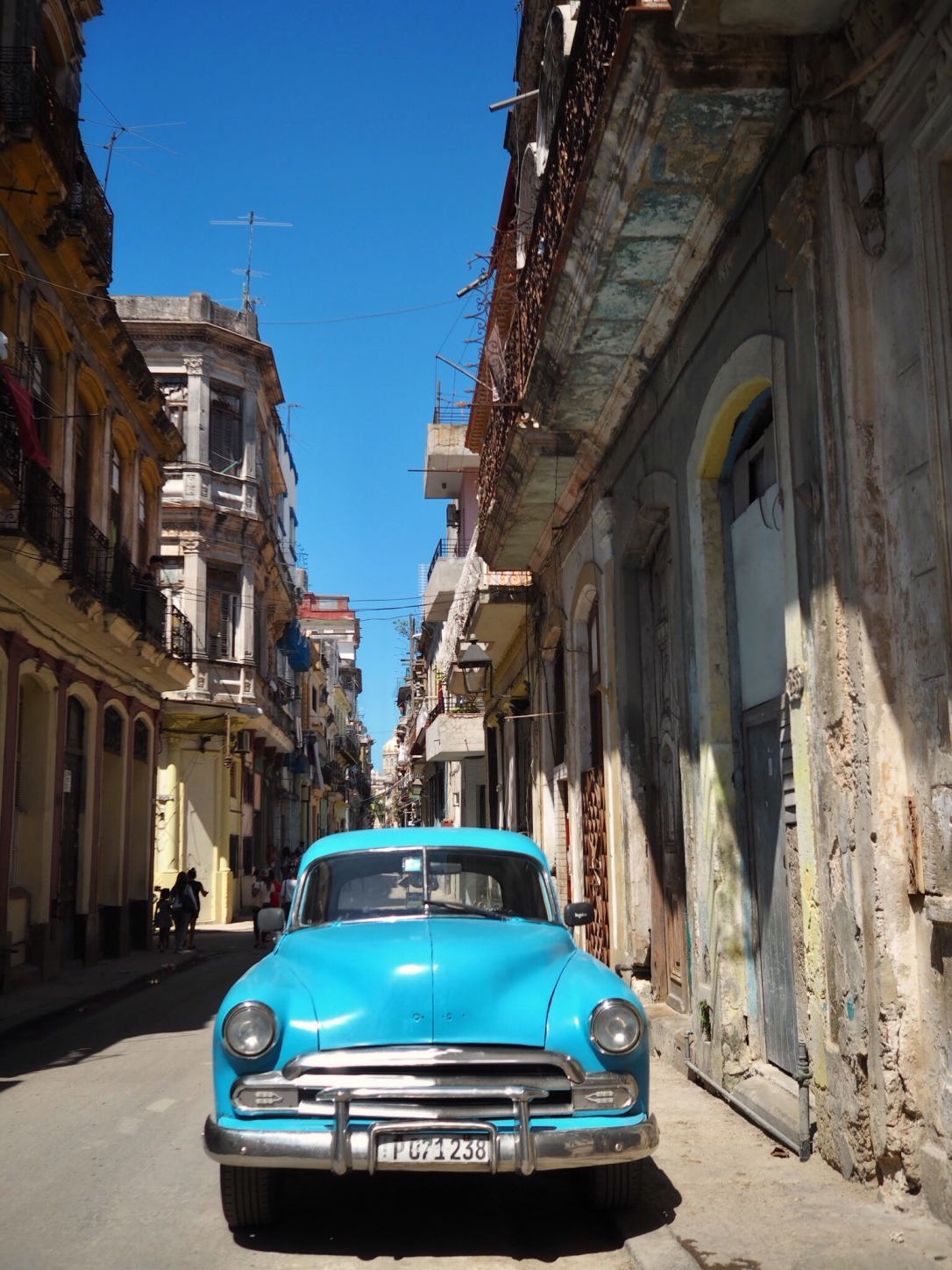 Classic car on the streets of Old Town, Havana