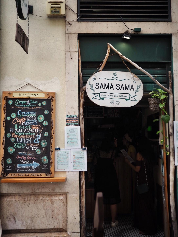Where to eat vegan in Lisbon - Sama Sama
