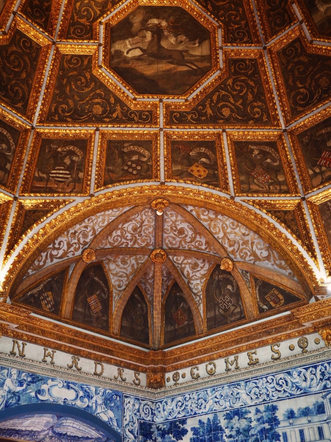Sintra National Palace ceiling